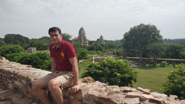 Meera Temple at the back