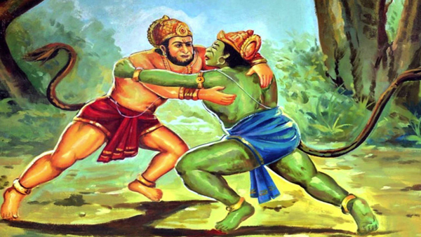 Bali and Sugreev Fighting