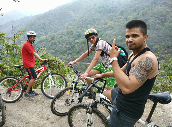 Cycling in Rishikesh