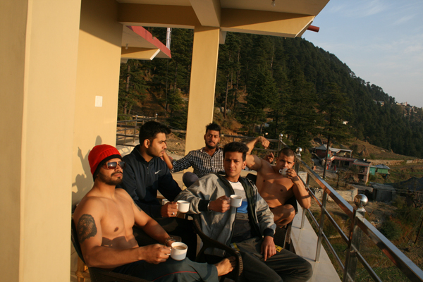Hotel Balcony In Khajjiar
