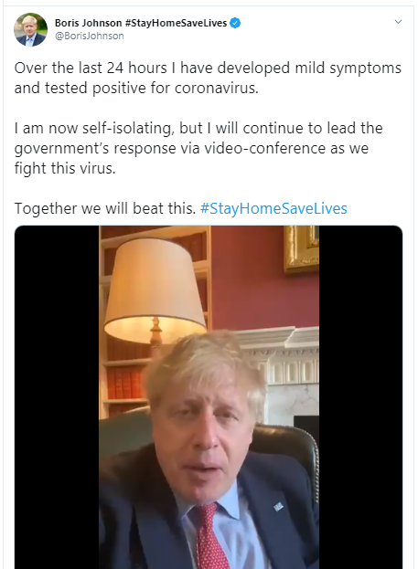 Boris Johnson Corona Positive News